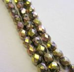 Czech Fire Polished Beads - 4mm - Crystal California Pink (50)